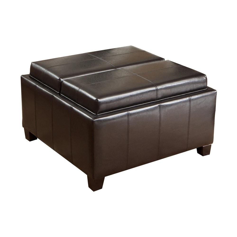 Best Selling Home Decor Mansfield Bonded Leather Tray Top