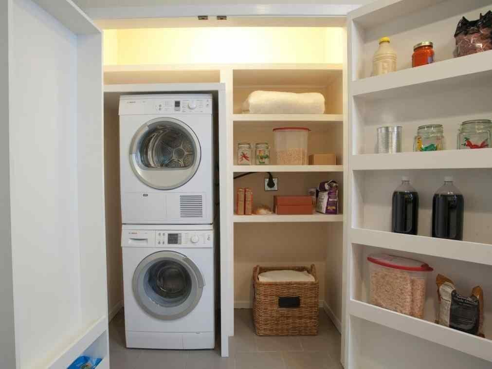 Best Stackable Laundry Room Storage Ideas Stacked