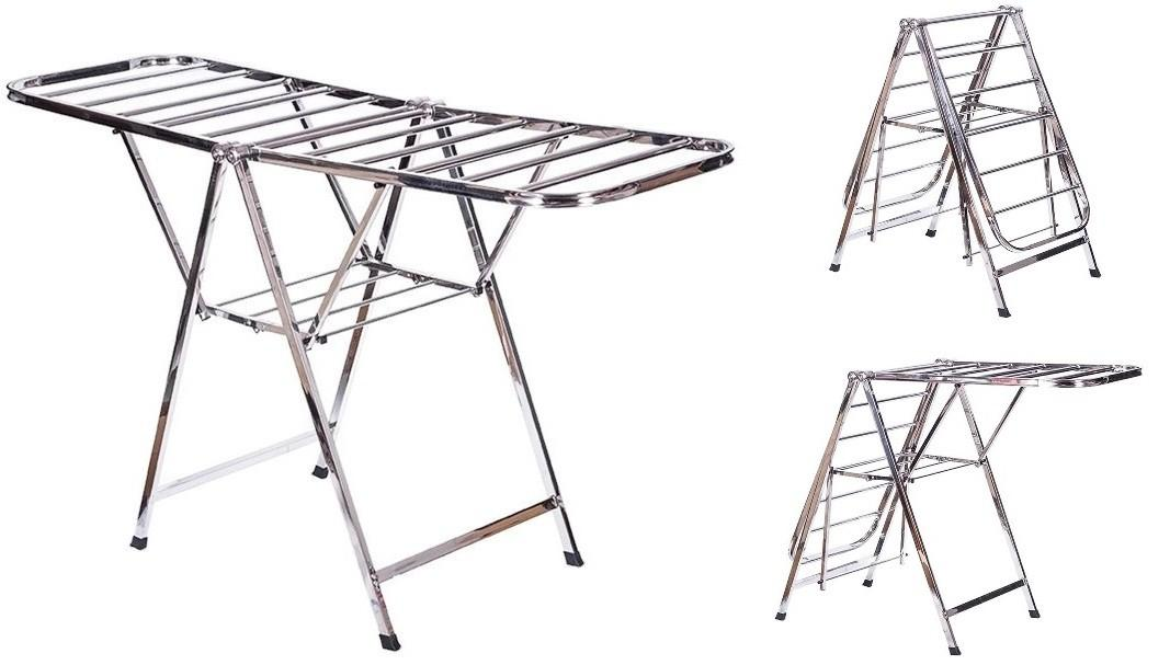Best Steel Clothes Drying Rack Tier Stainless Throughout