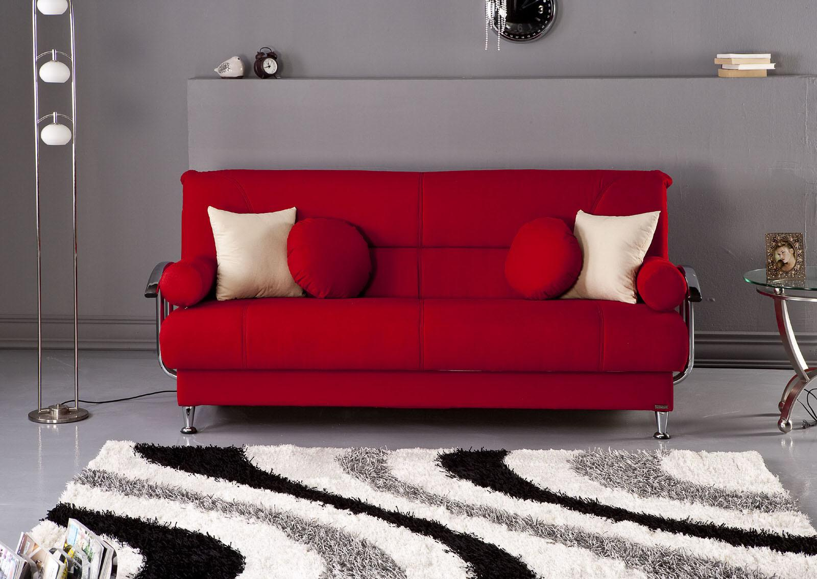 Best Tetris Red Convertible Sofa Bed Sunset