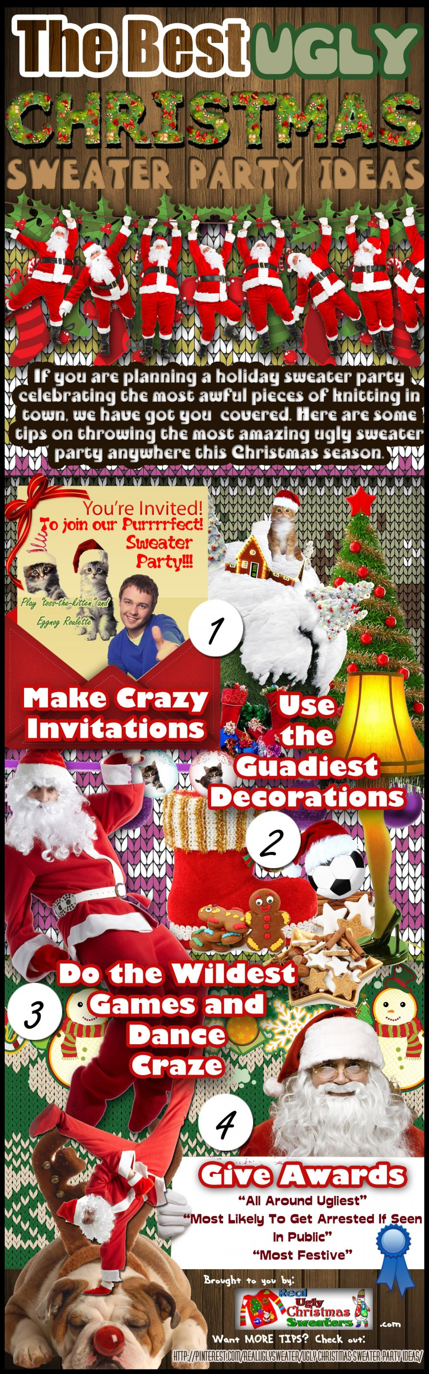 Best Ugly Christmas Sweater Party Ideas Visual