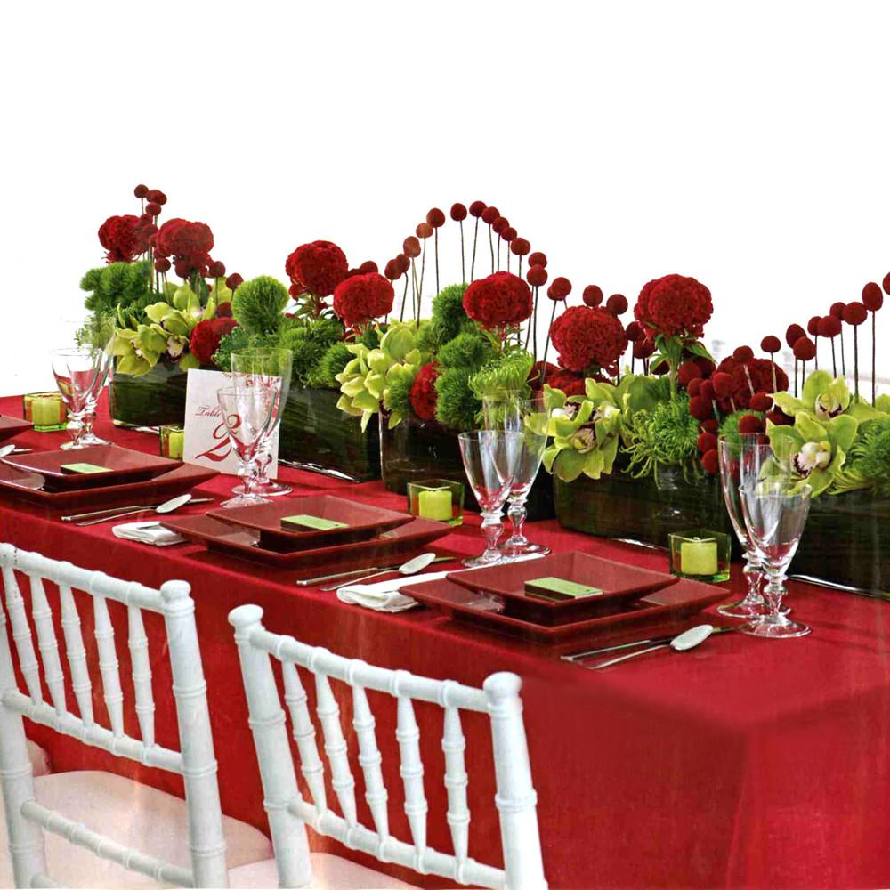 Best Wedding Planing Red Reception Decoration