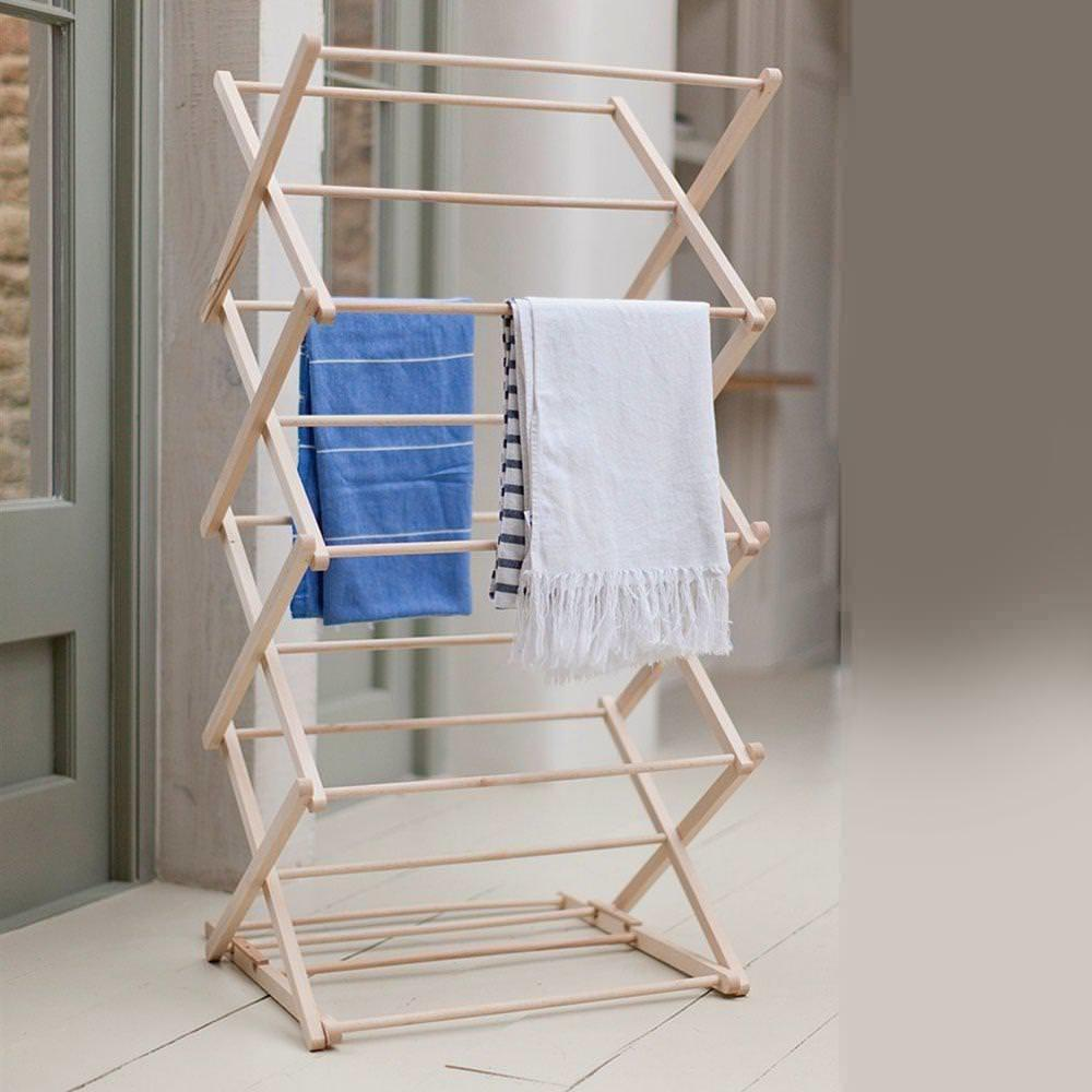 Best Wood Clothes Drying Rack Designs Ideas Emerson