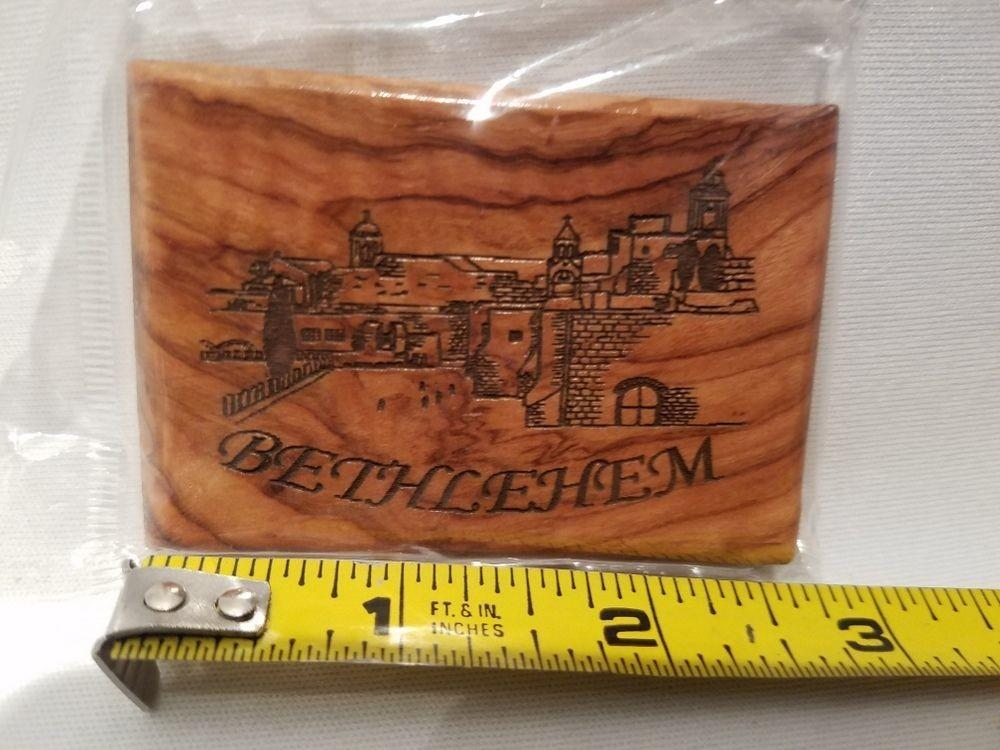 Bethlehem Bible College Wood Wooden Religious Refrigerator
