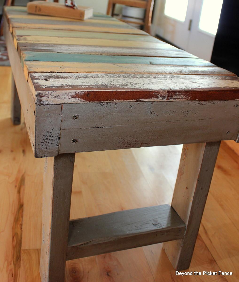 Beyond Picket Fence Pallet Bench Tutorial
