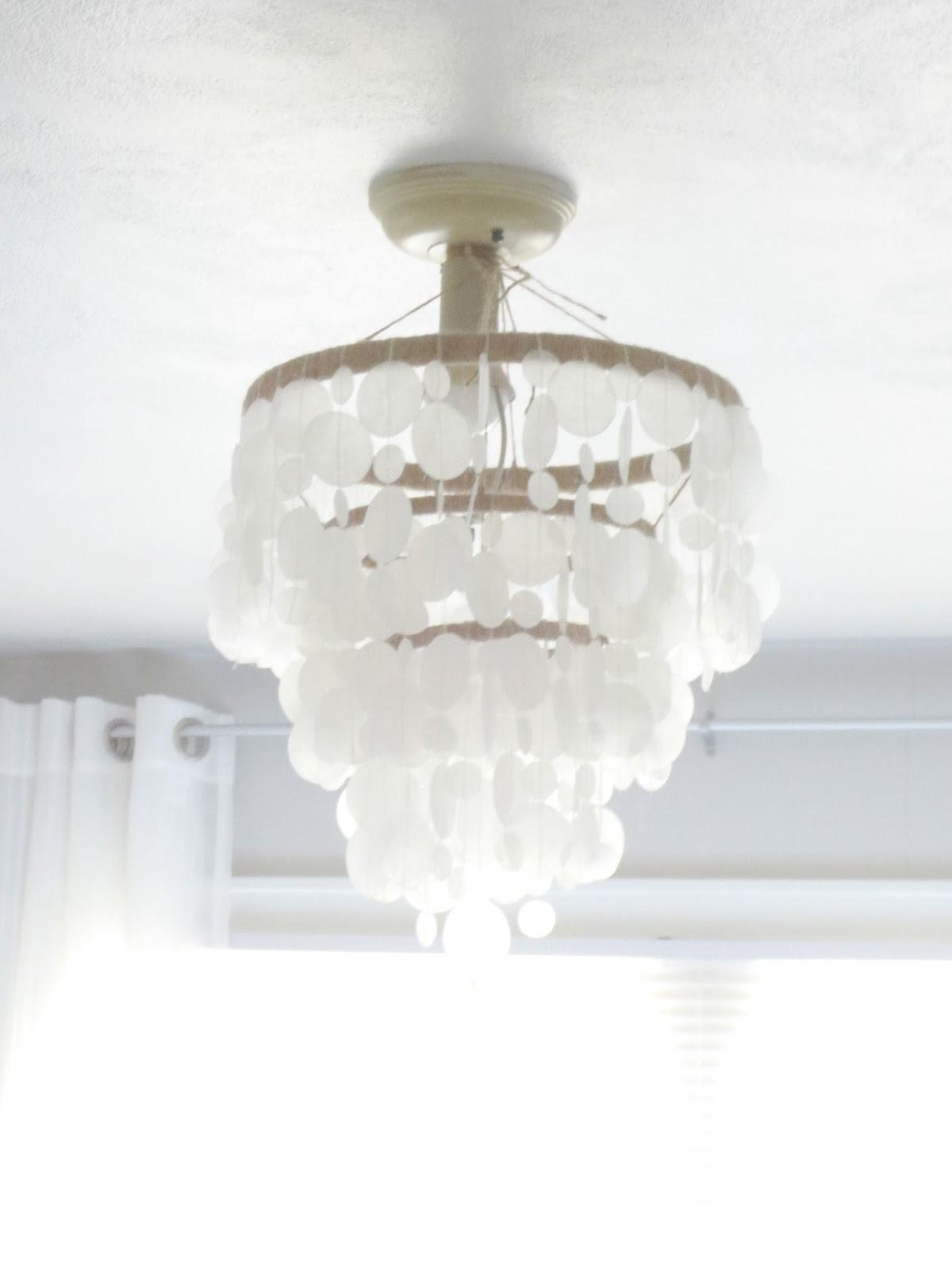 Beyond Portico Faux Capiz Shell Chandelier Diy
