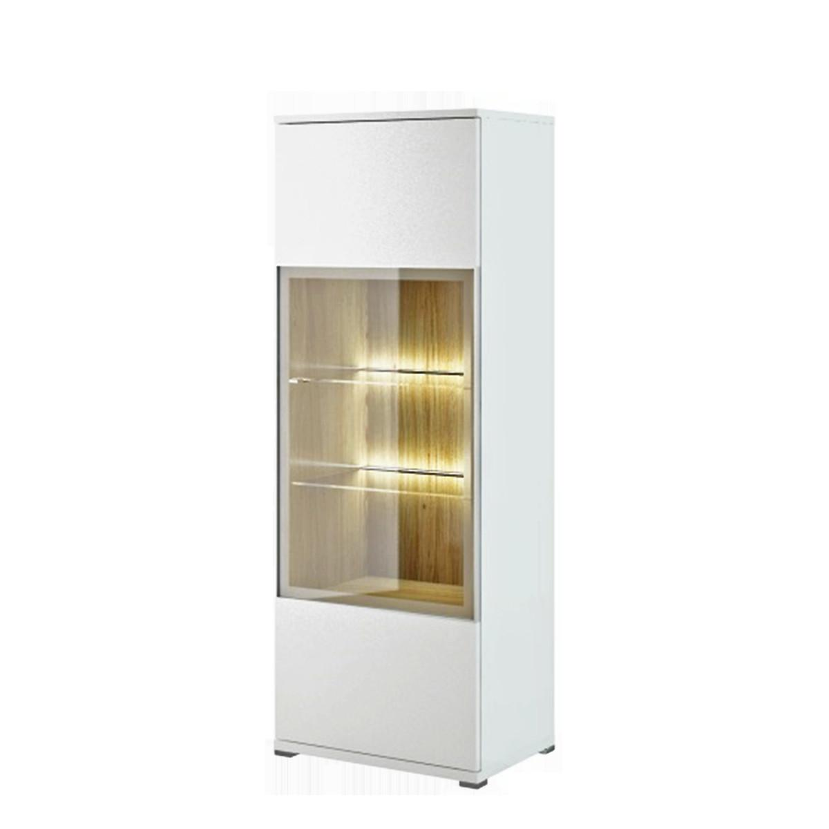 Bianco High Gloss Display Cabinet White Funique