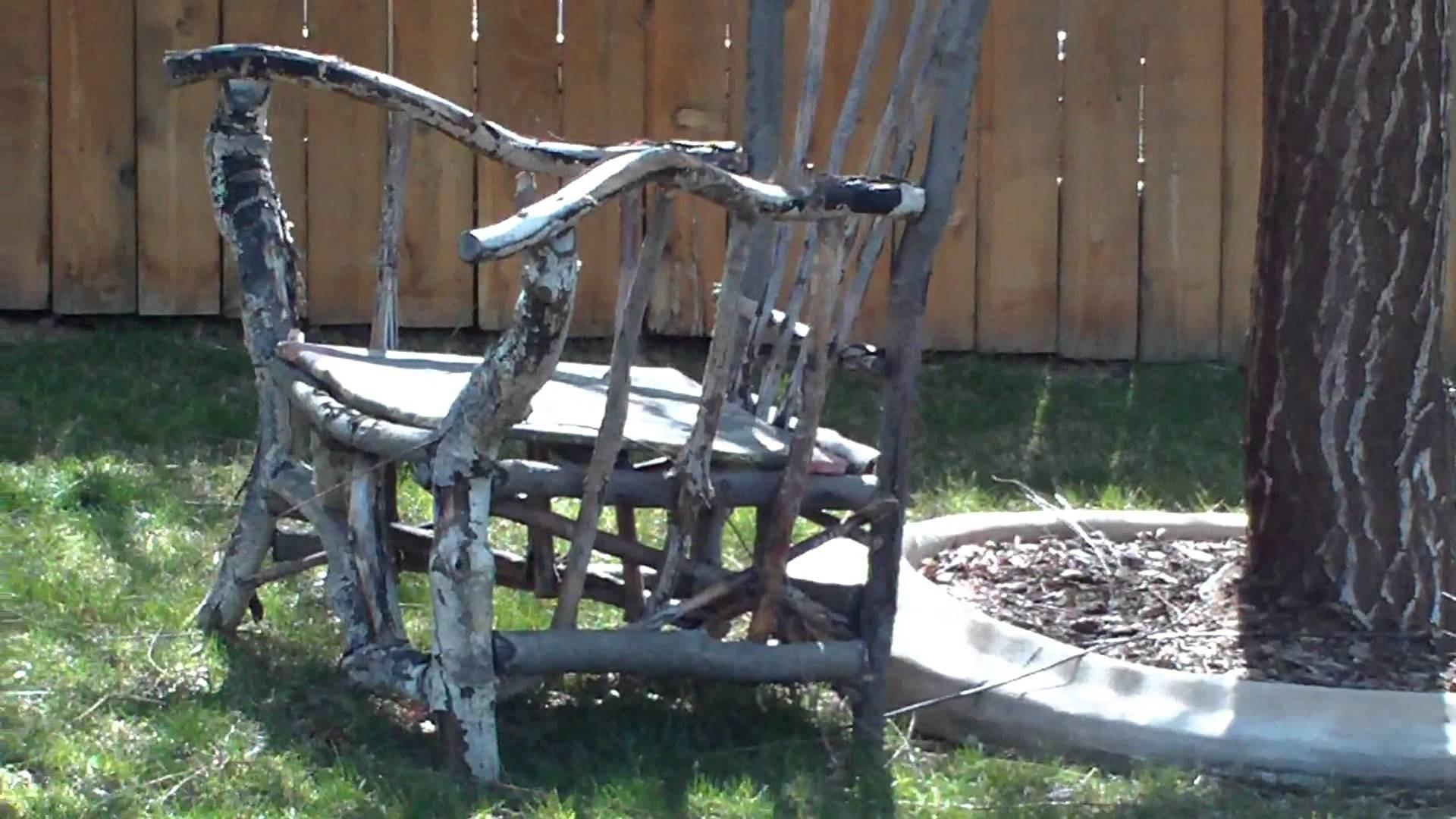Big Chair Made Tree Branches