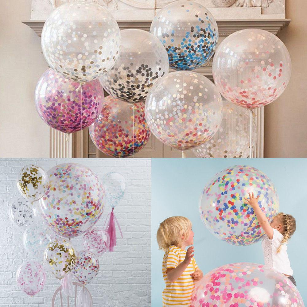 Big Confetti Filled Balloons Wedding Table Scatter