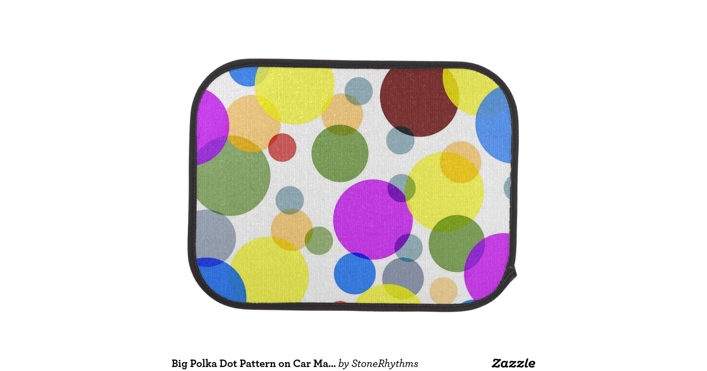 Big Polka Dot Pattern Car Mats Mat Zazzle