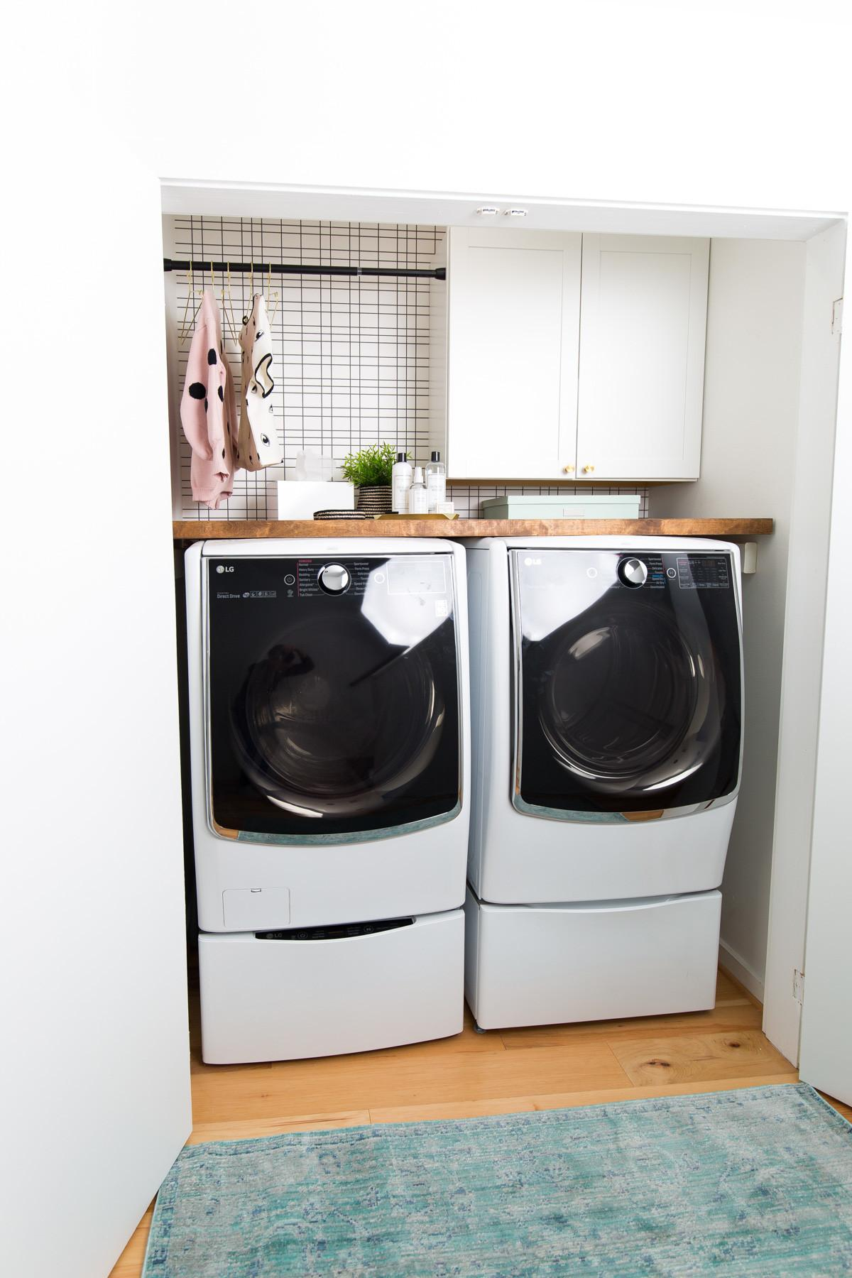 Big Reveal Before After Our Laundry Room Makeover
