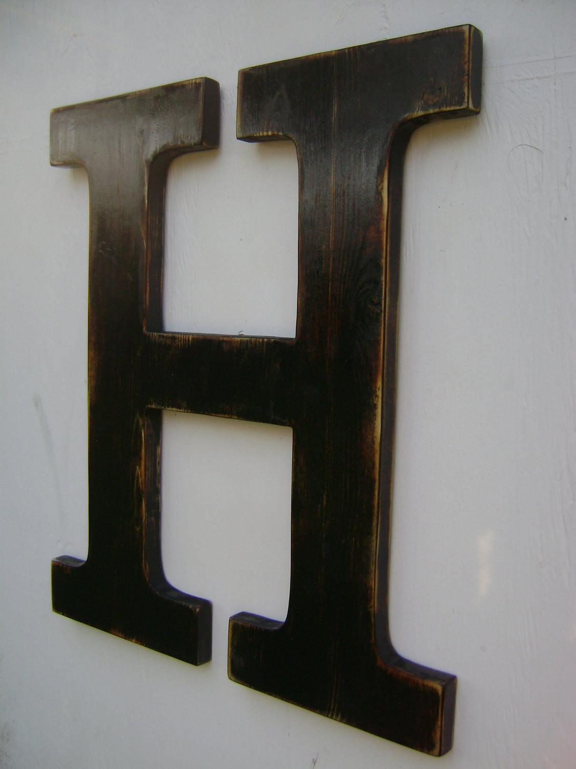 Big Wall Hanging Wooden Letter Nursery Decor Painted