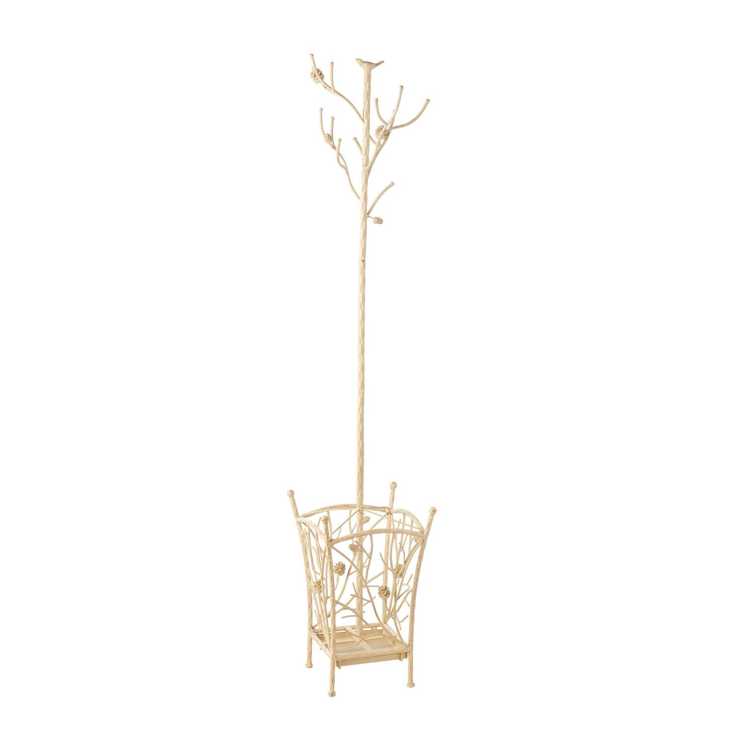 Bird Branch Antique White Hall Tree Southern