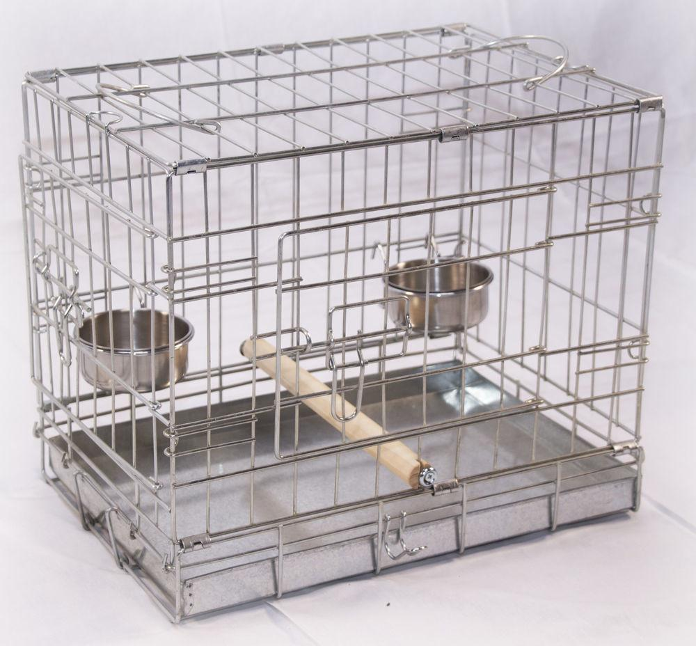 Bird Parrot Budgie Carrier Transporter Cage Small
