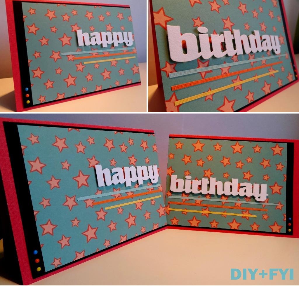 Birthday Card Diy Fyi Creatively Created