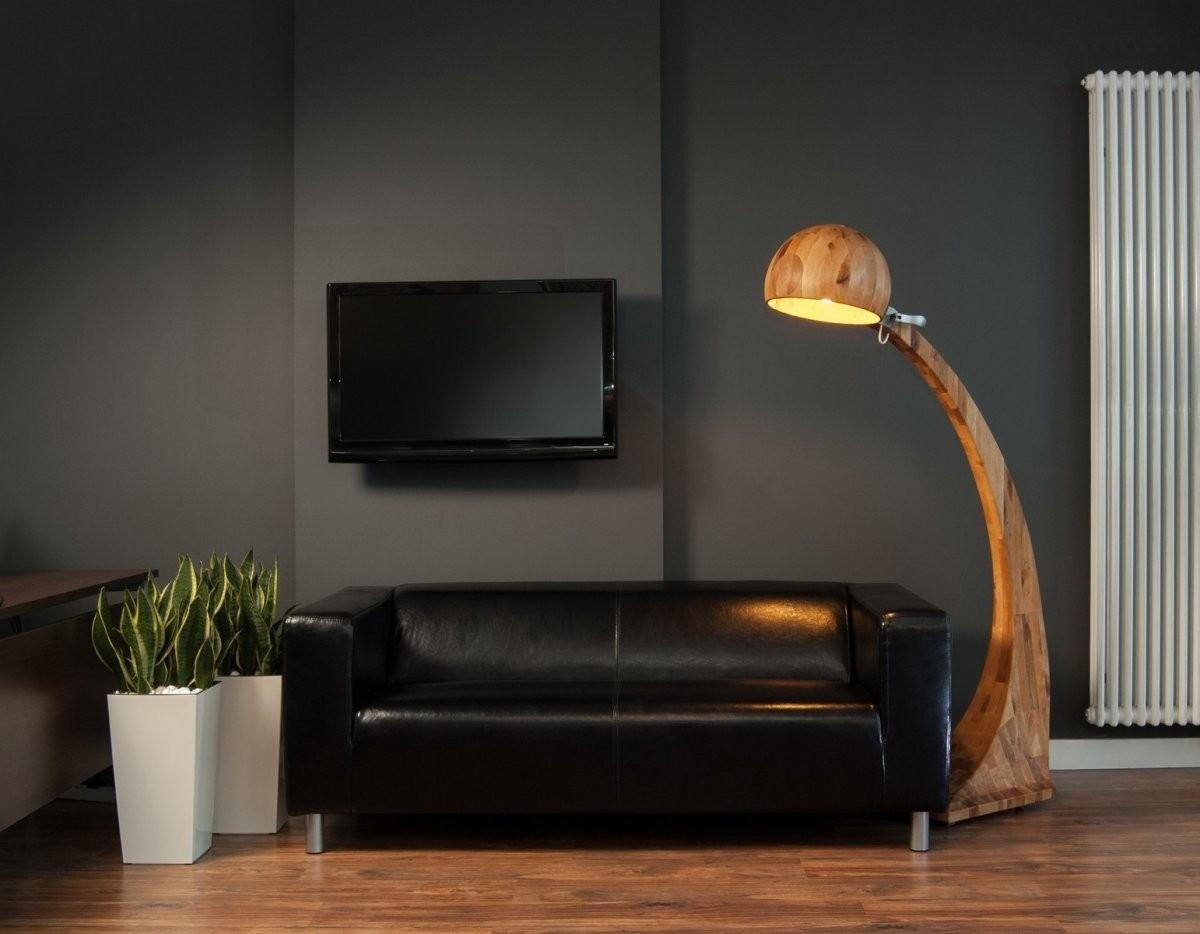 Black Accents Wall Paint Modern Living Room Idea