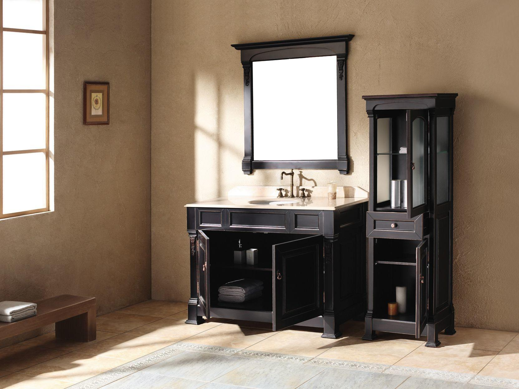 Black Bathroom Vanity Achieving Finest Classy Accent