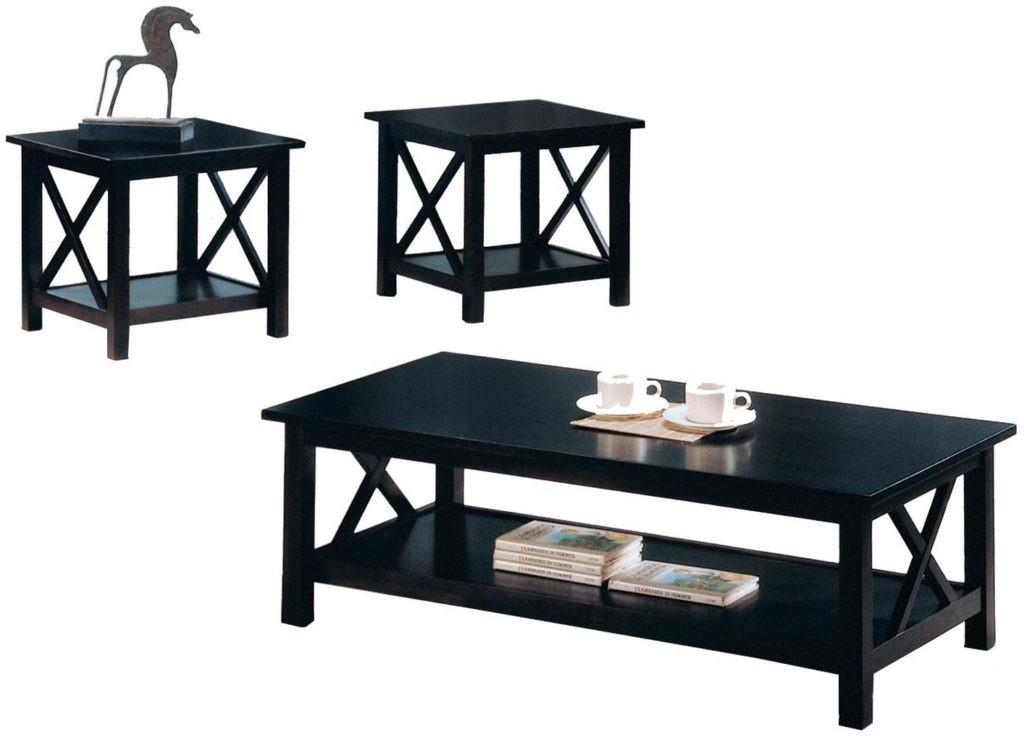 Black Coffee Table Sets Unique Your Living Spaces Look