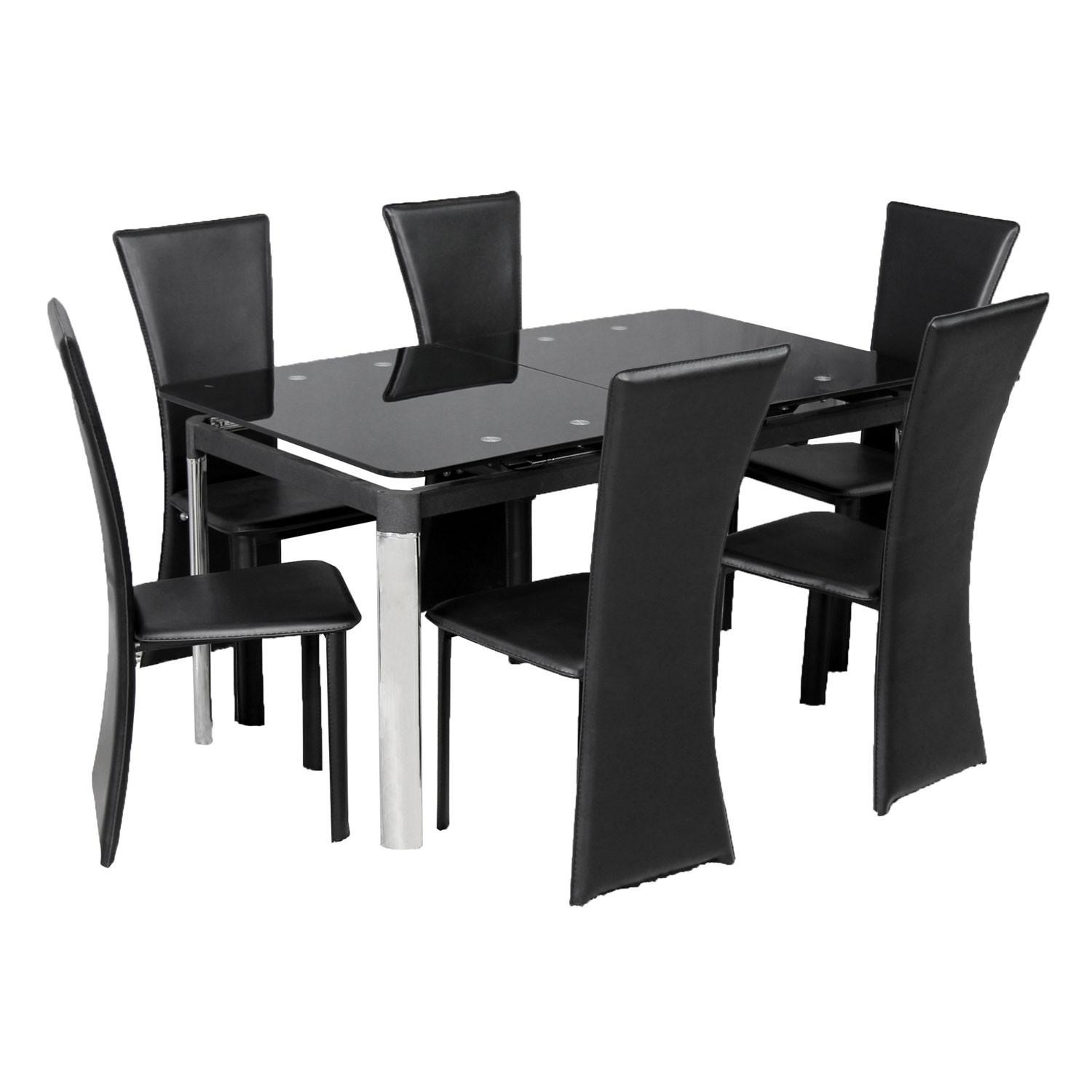Black Glass Dining Table Unique Trendy Tables