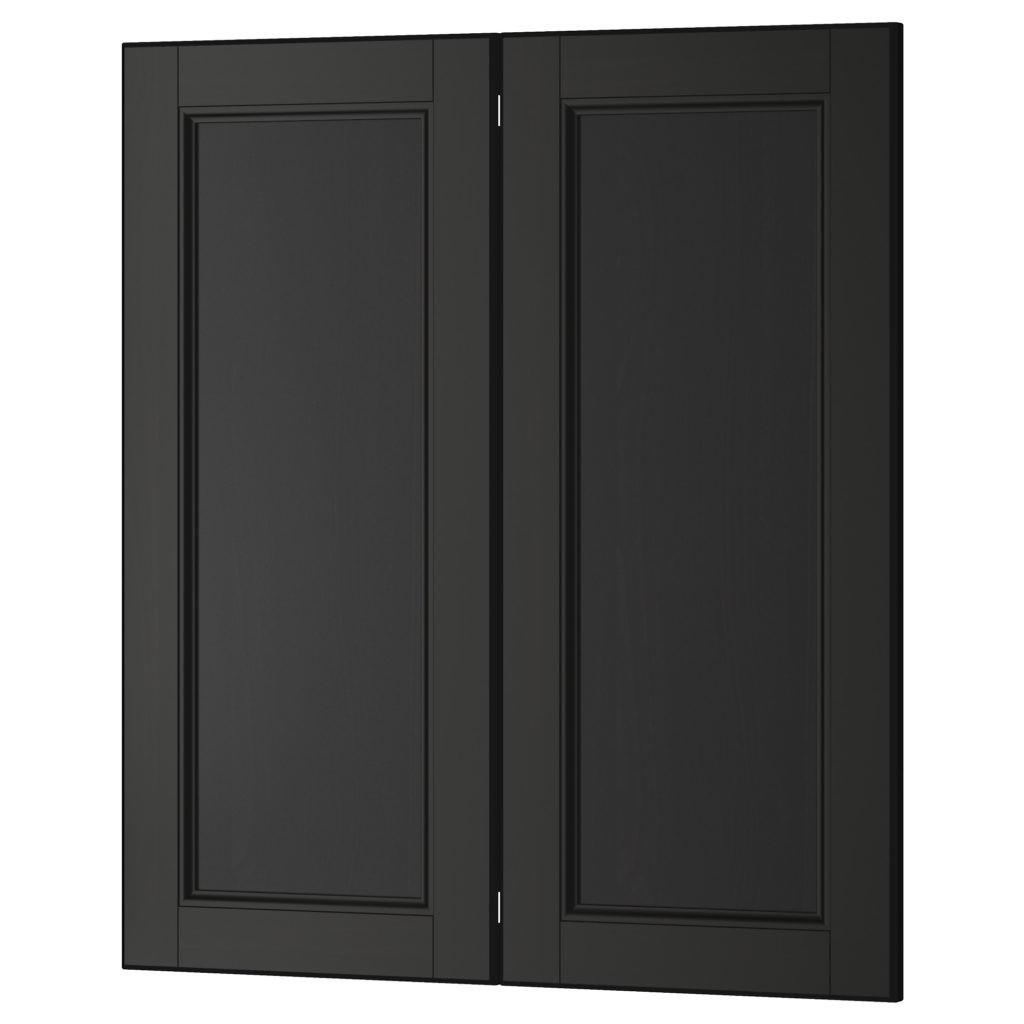 Black Kitchen Cabinets Glass Doors Quicua