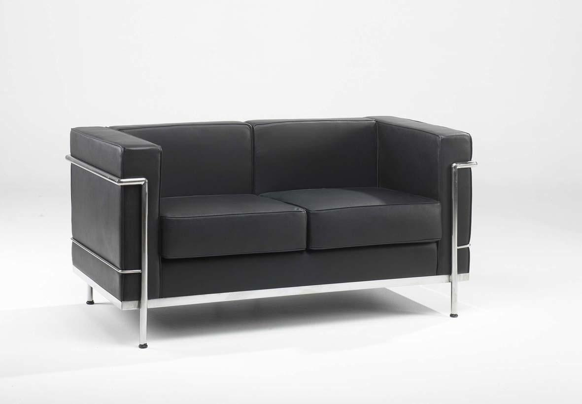 Black Leather Office Sofa Furniture Couch