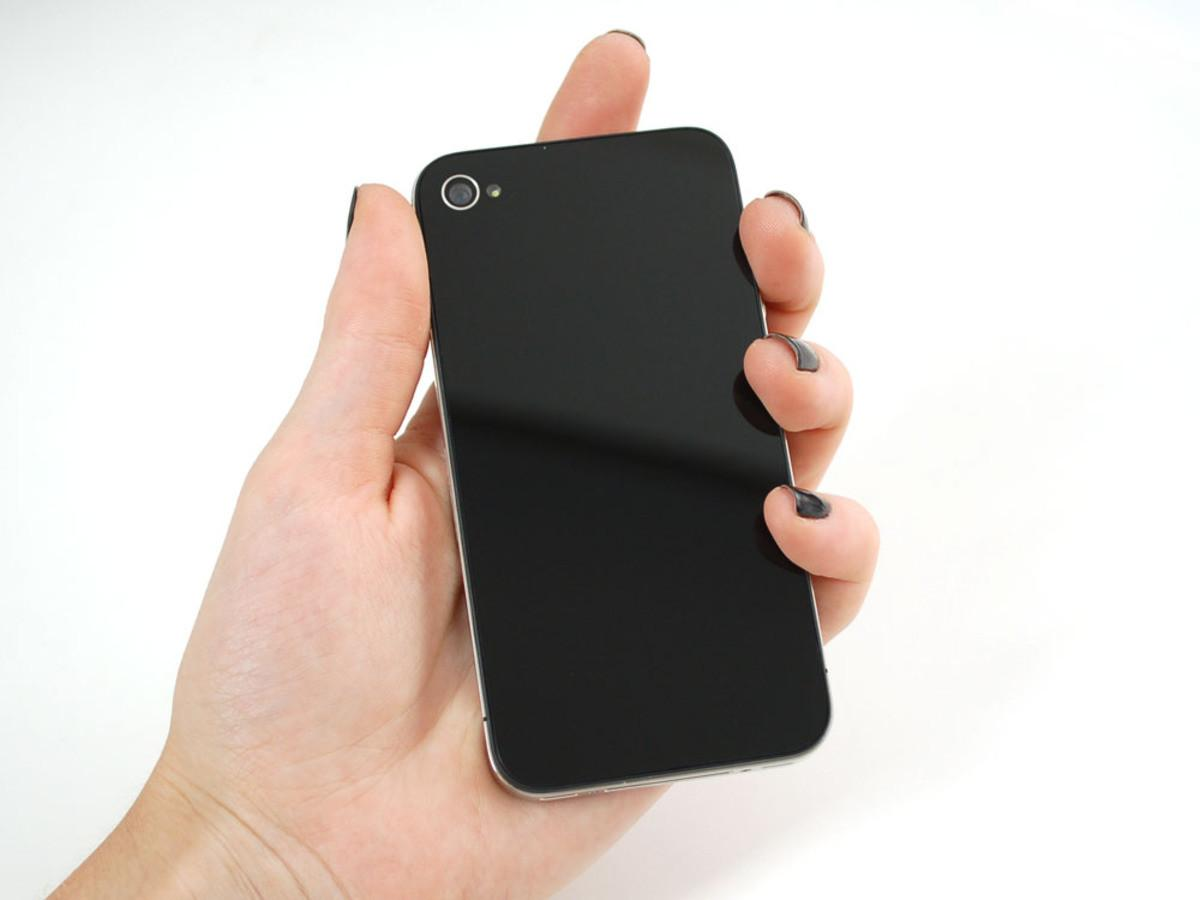 Black Logo Iphone Replacement Back 928