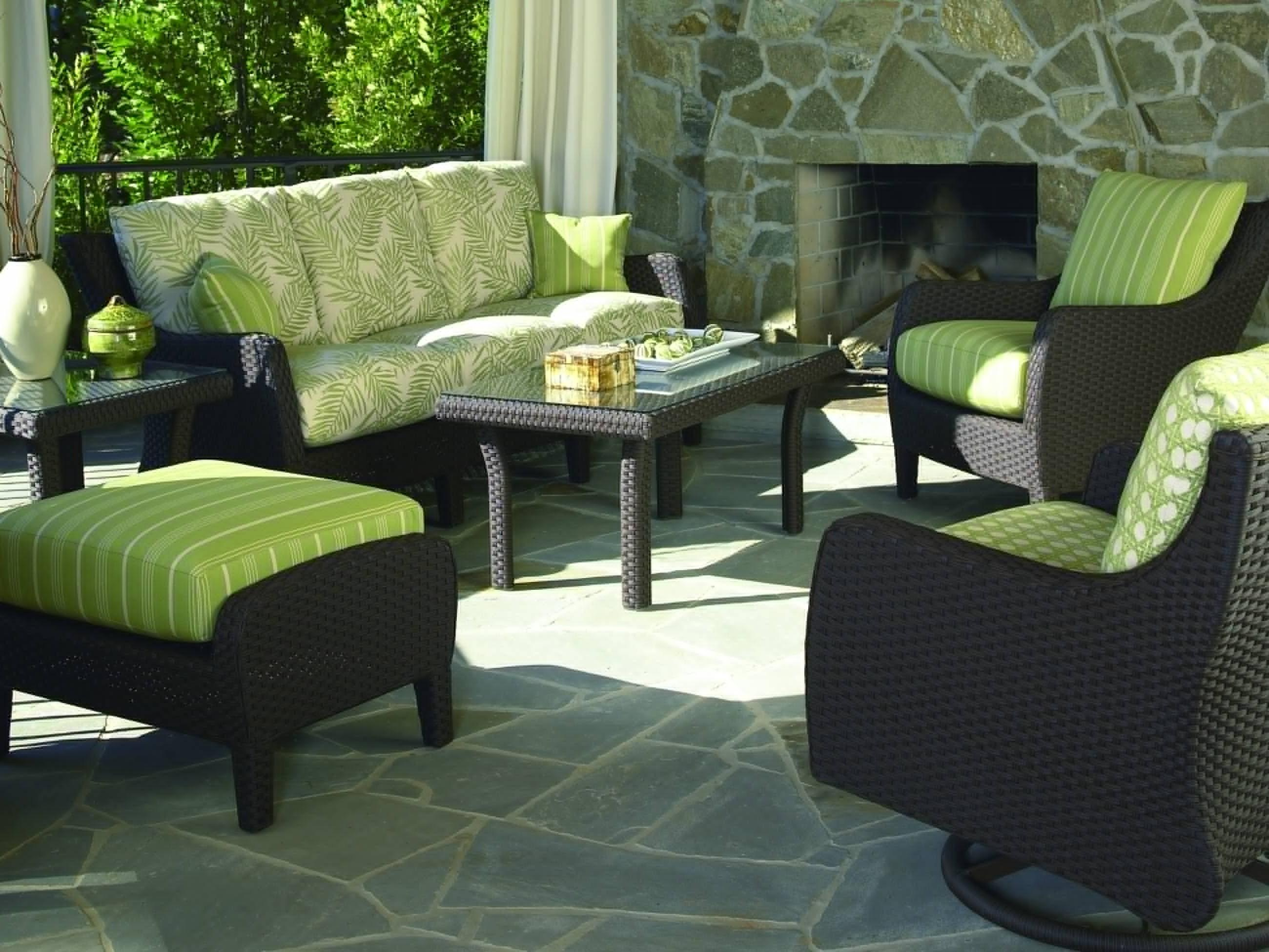 Black Patio Cushions Modern Outdoor