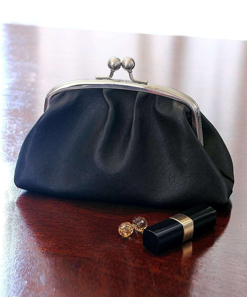 Black Personalized Vintage Bridesmaid Clutch Survival