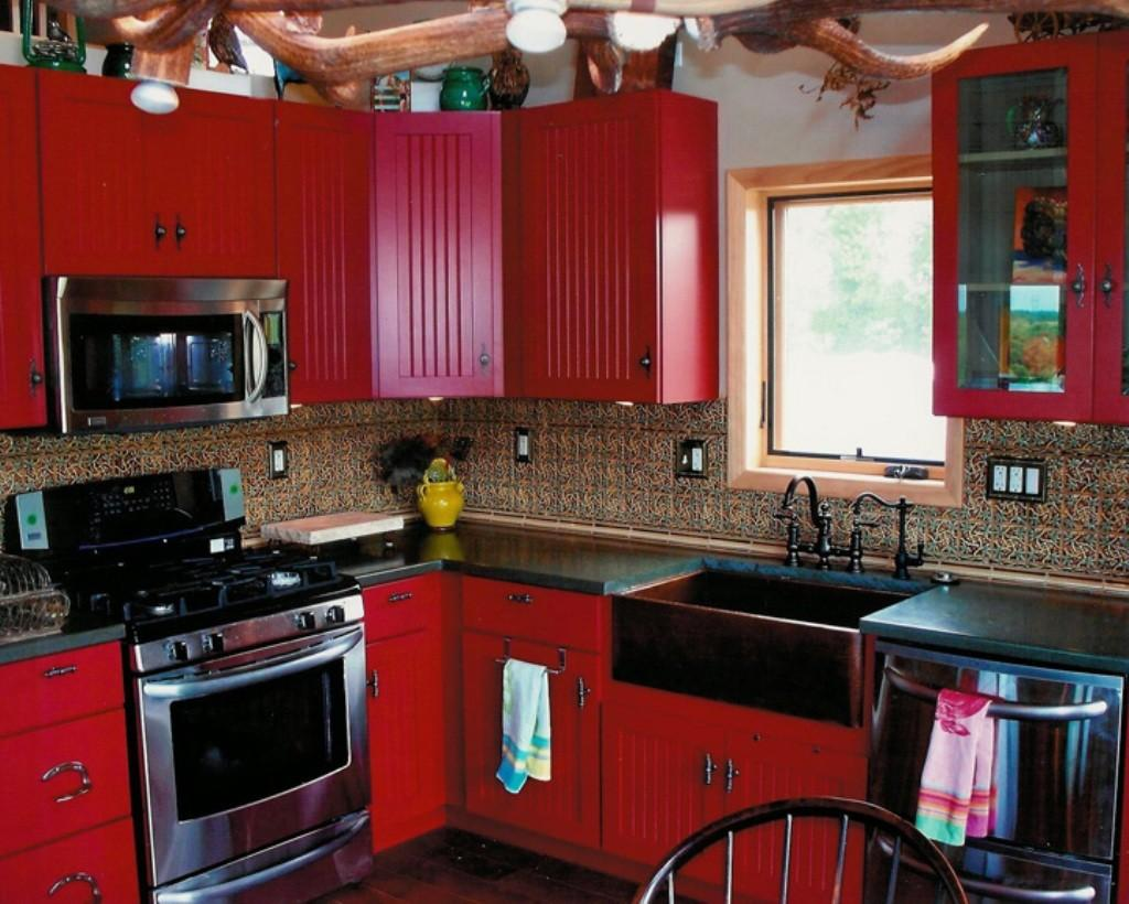 Black Red Country Kitchen Pin