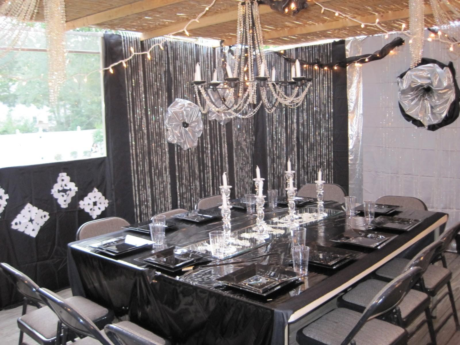 Black Silver Party Decorations Favors Ideas