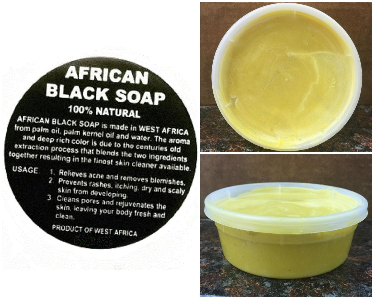 Black Soap Yellow Shea Butter 8oz Tub Combo