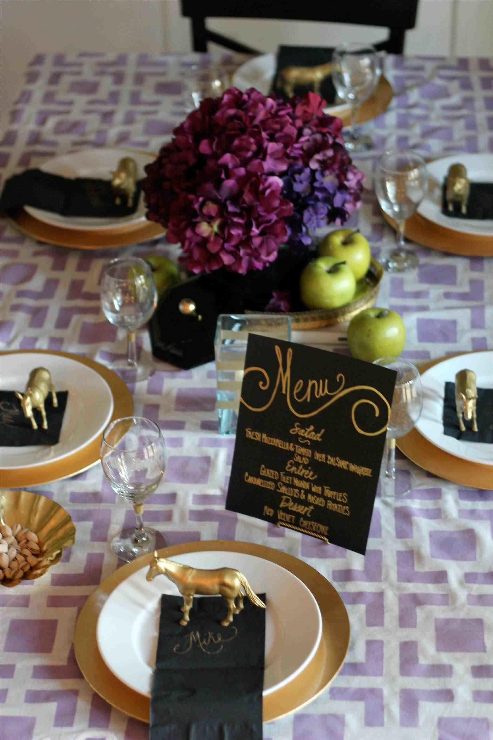 Black Table Cloth Party Temasistemi
