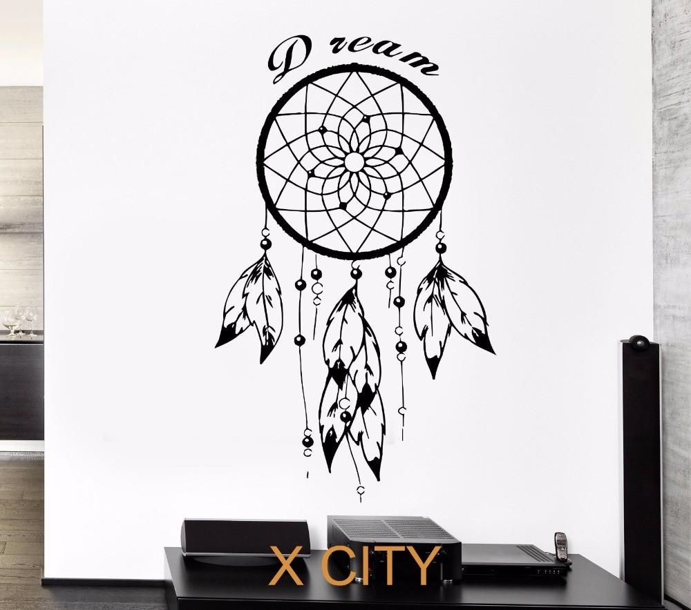 Black Wall Decal Dreamcatcher Native American Indian Quote