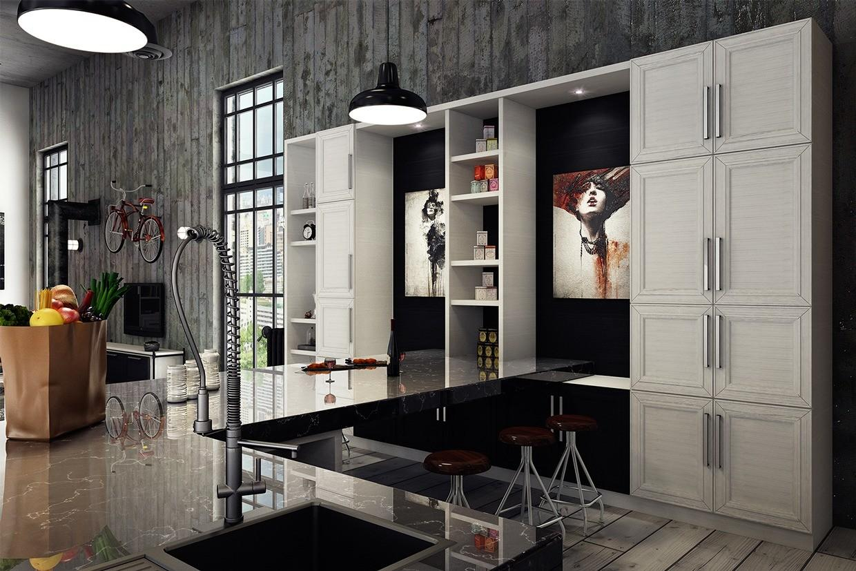 Black White Apartment Interior Design Young Couple