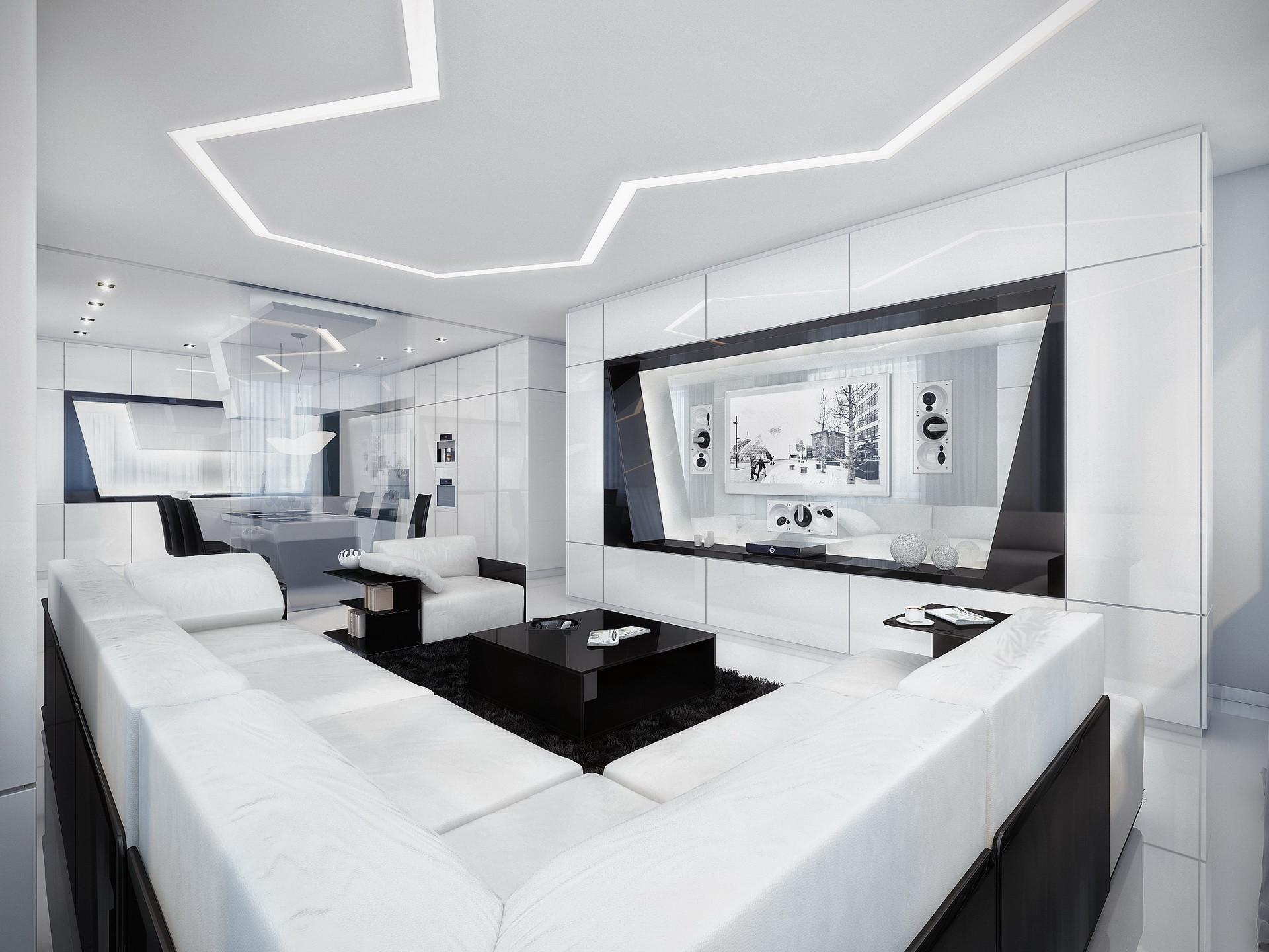Black White Contemporary Interior Design Ideas