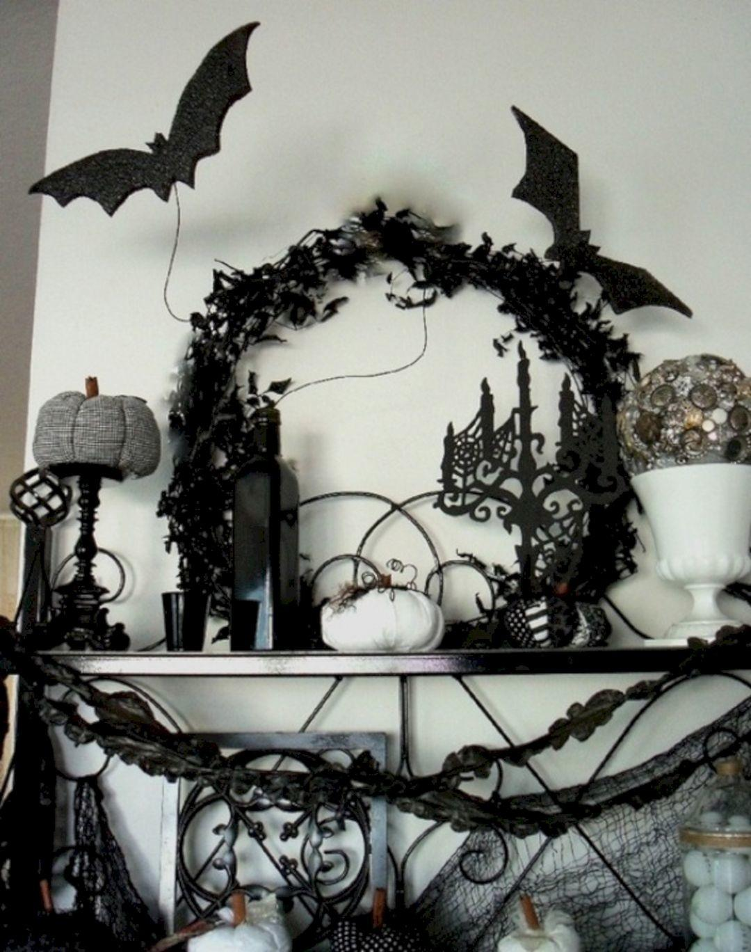 Black White Halloween Decor