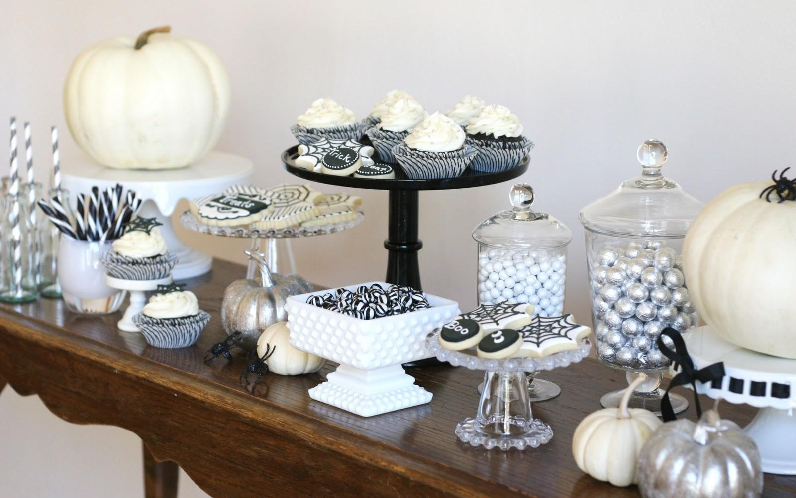 Black White Halloween Dessert Table Glorious Treats