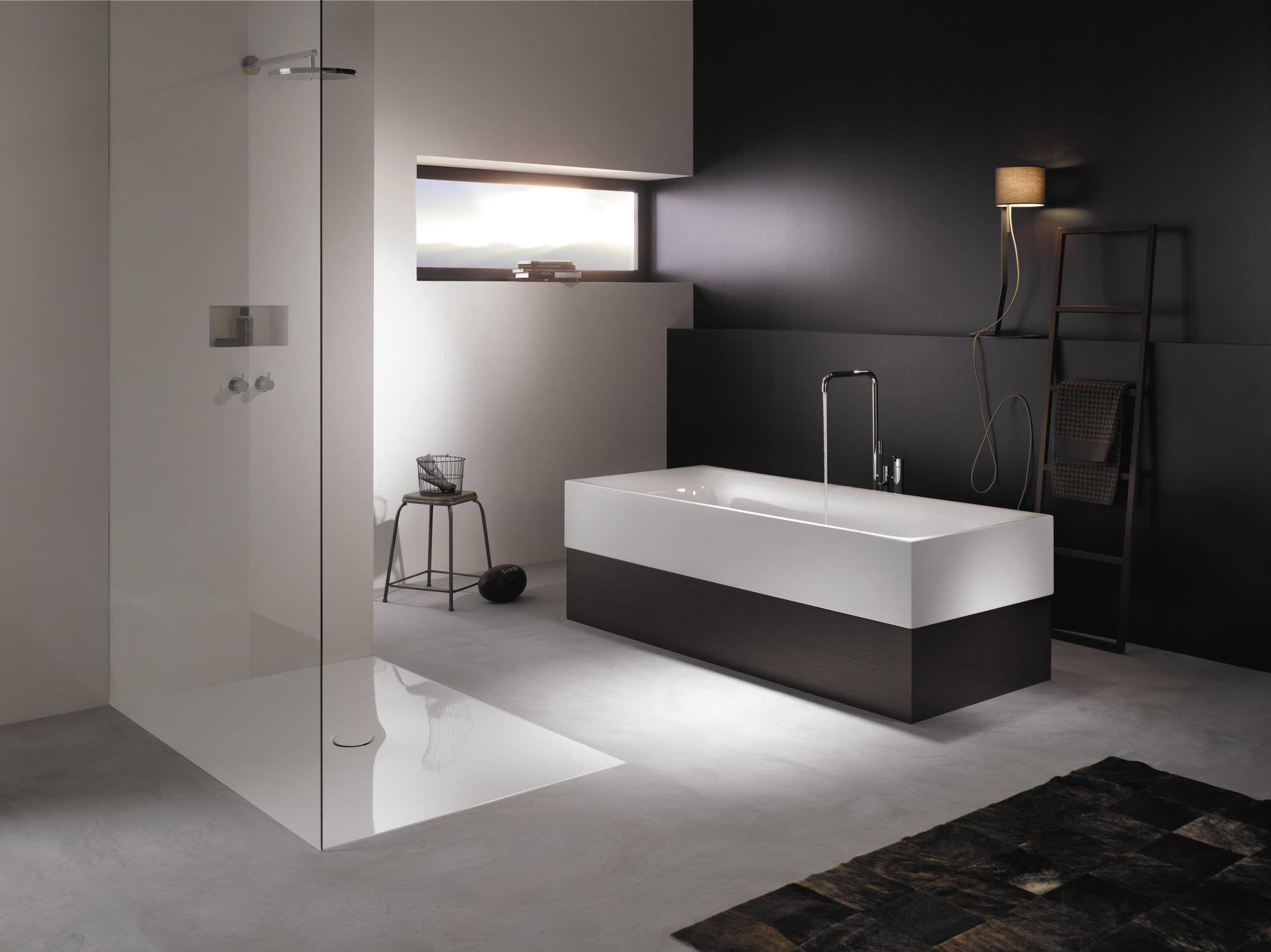 Black White Minimalist Bathroom Interior
