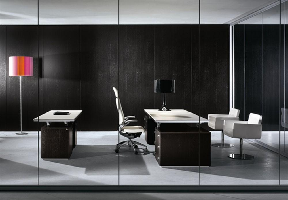 Black White Office Furniture Modern Home