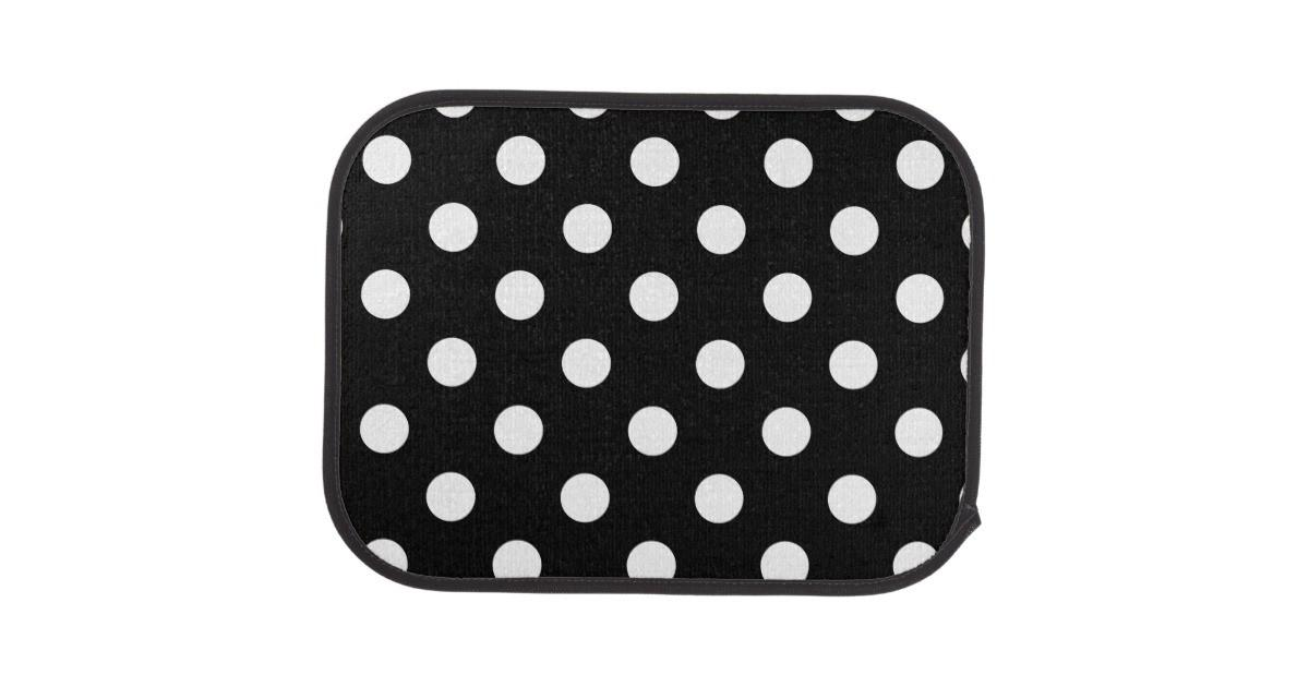 Black White Polka Dot Pattern Car Floor Mat Zazzle