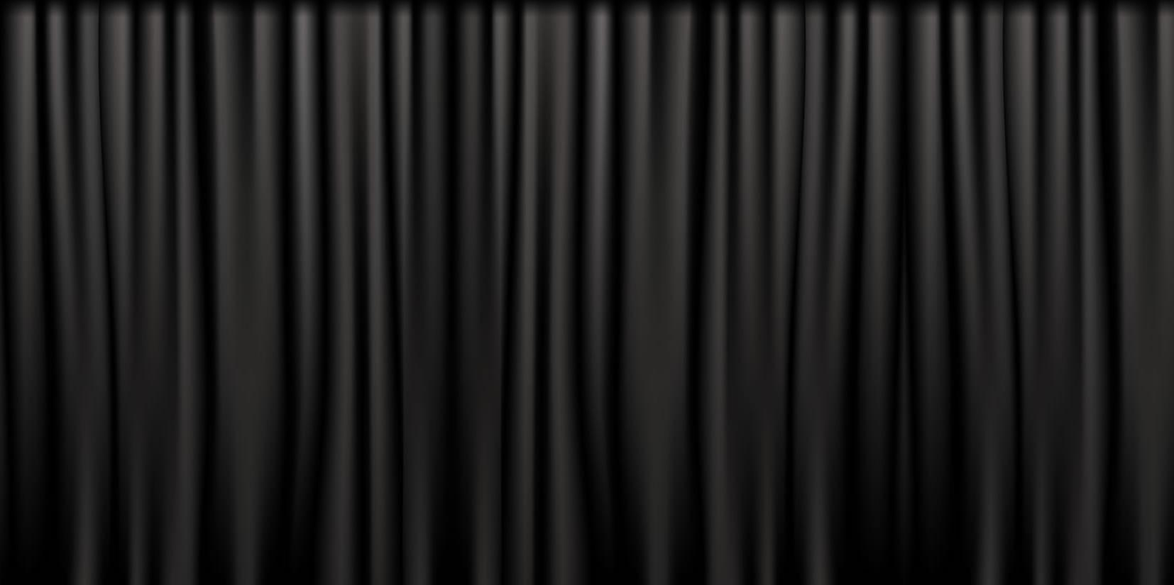 Black White Stage Curtains Pin