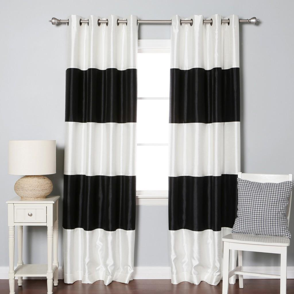 Black White Striped Curtains Curtain Menzilperde