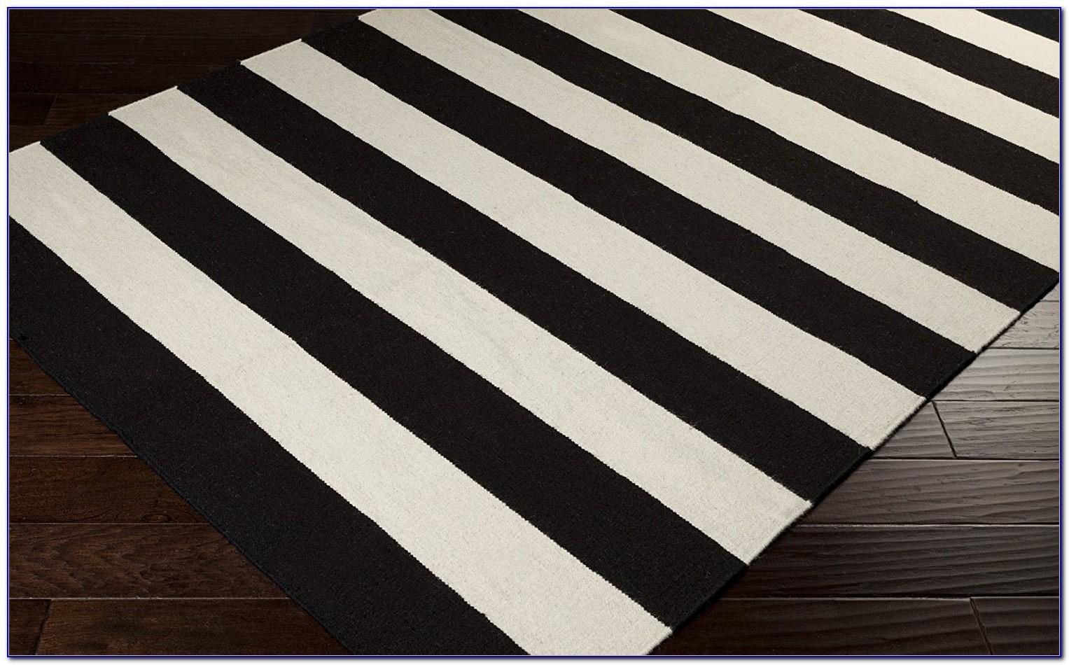 Black White Striped Rug Rugs Home Decorating