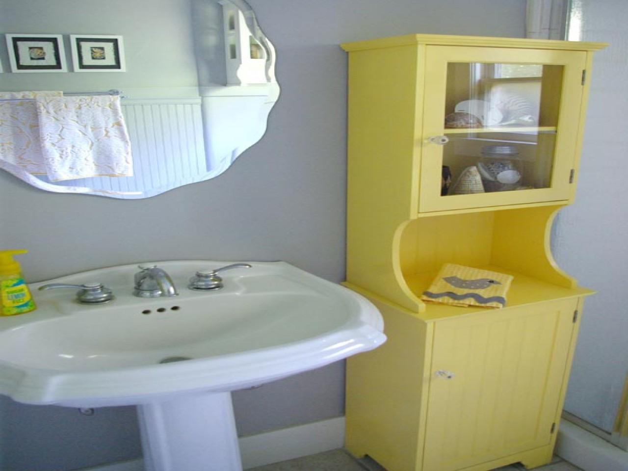 Black Yellow Gray Bathroom Grey