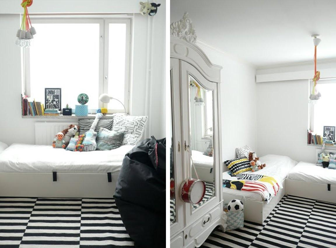 Blackand White Striped Bedrooms Decosee