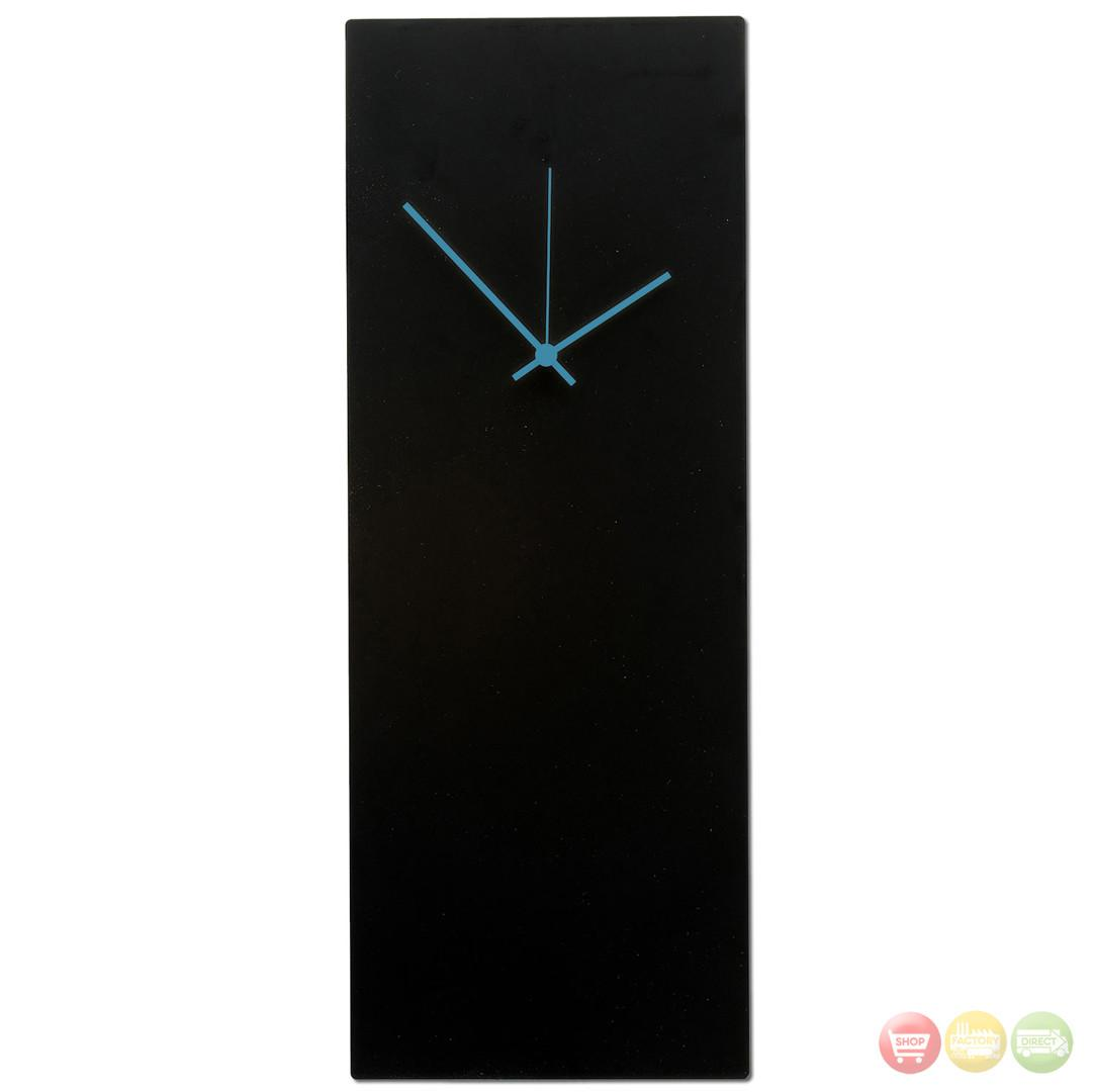 Blackout Blue Wall Clock Minimalist Modern L0183