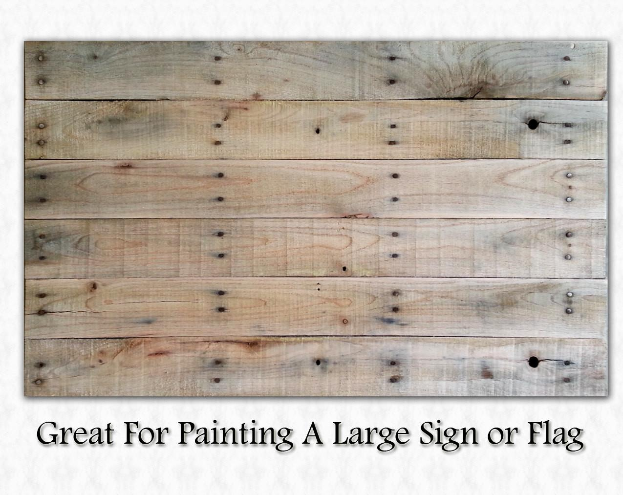 Blank Pallet Wood Canvas Sign Flag Painting