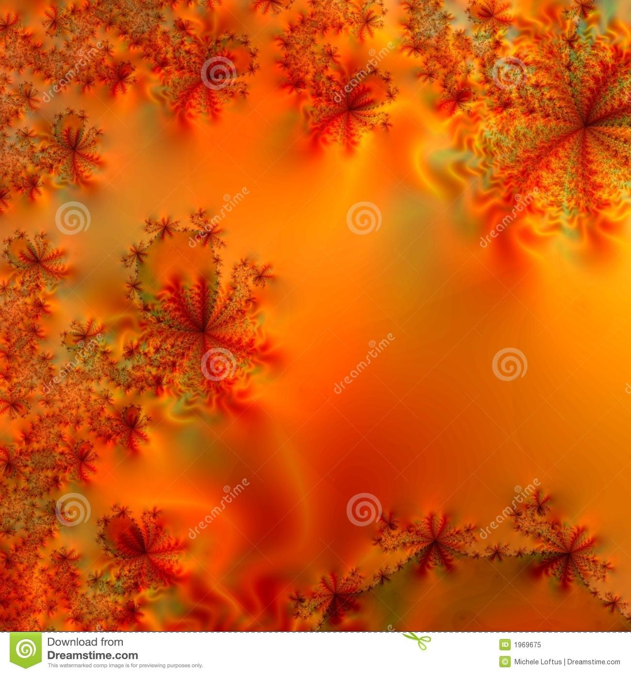 Blazing Autumn Colors Abstract Design Template