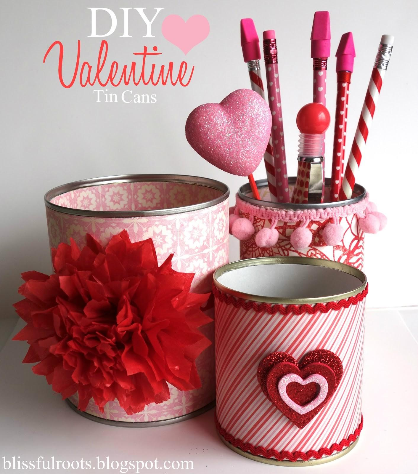 Blissful Roots Diy Valentine Tin Cans