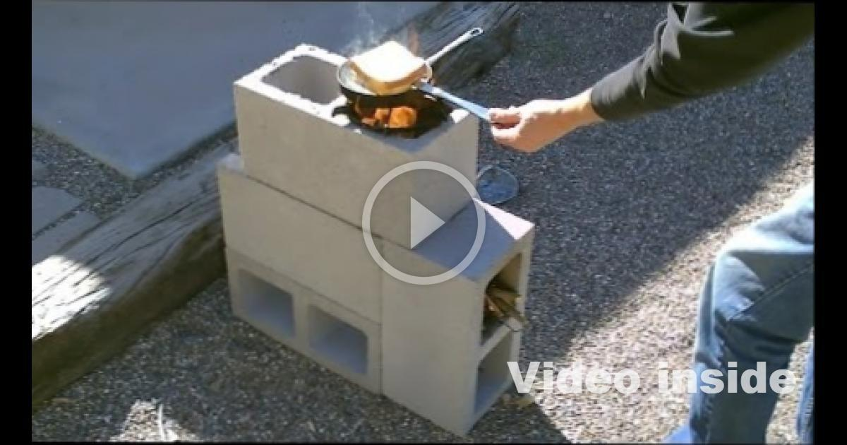 Block Rocket Stove Diy Concrete